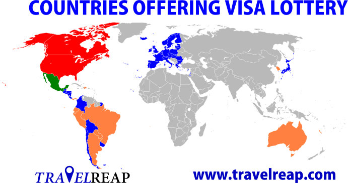 Complete List of Countries Offering Visa Lottery – 2019